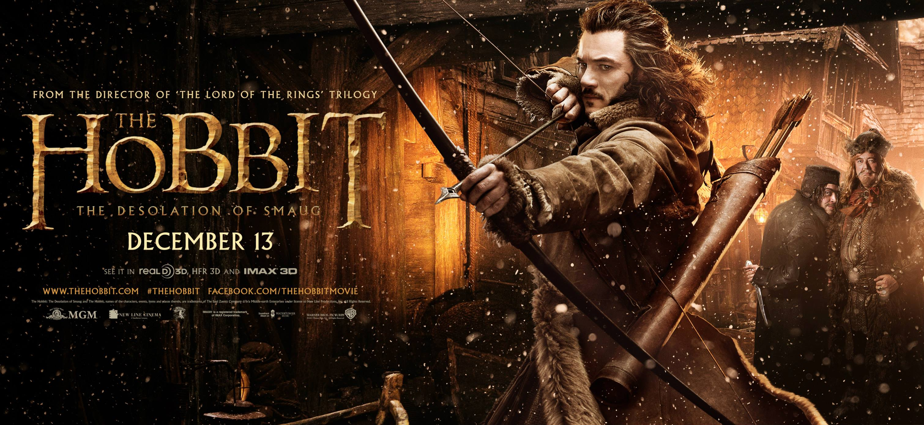 The Desolation of Smaug Bard the Bowman Movie Poster