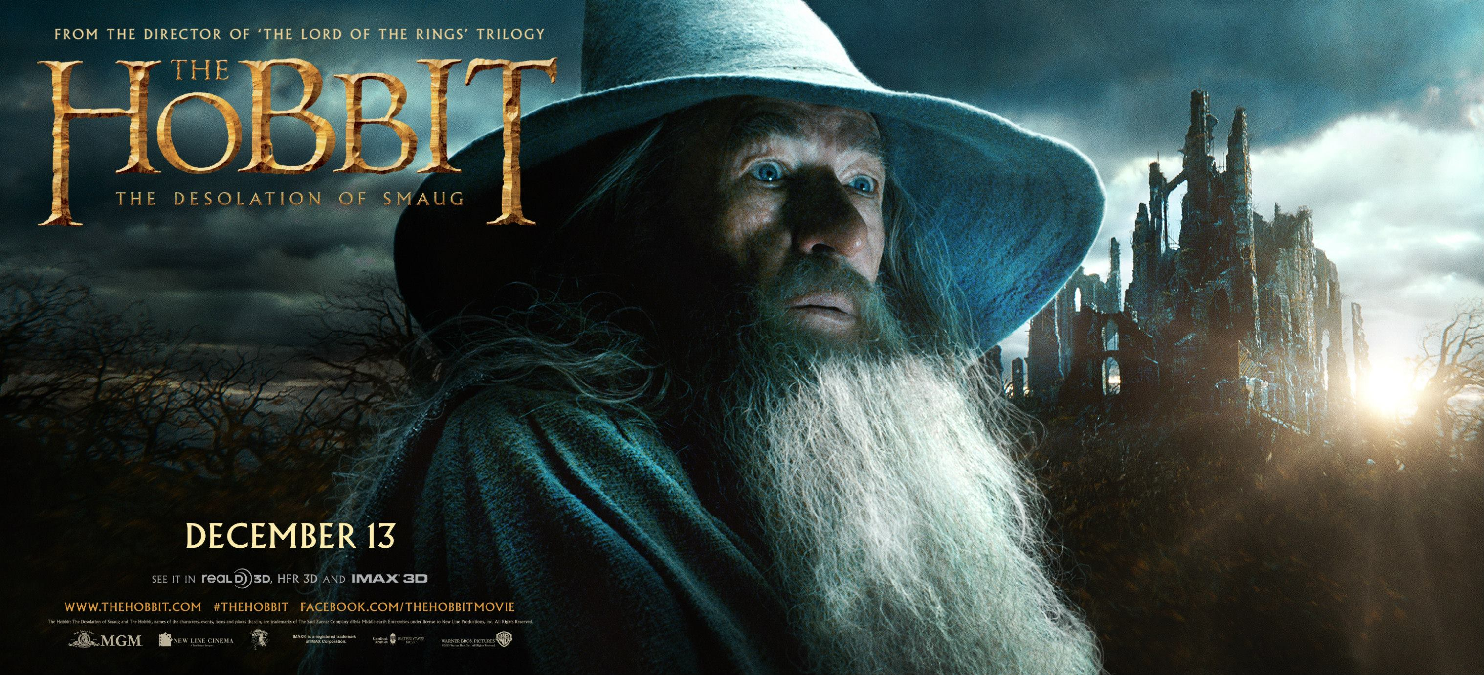 The Desolation of Smaug Gandalf Movie Poster