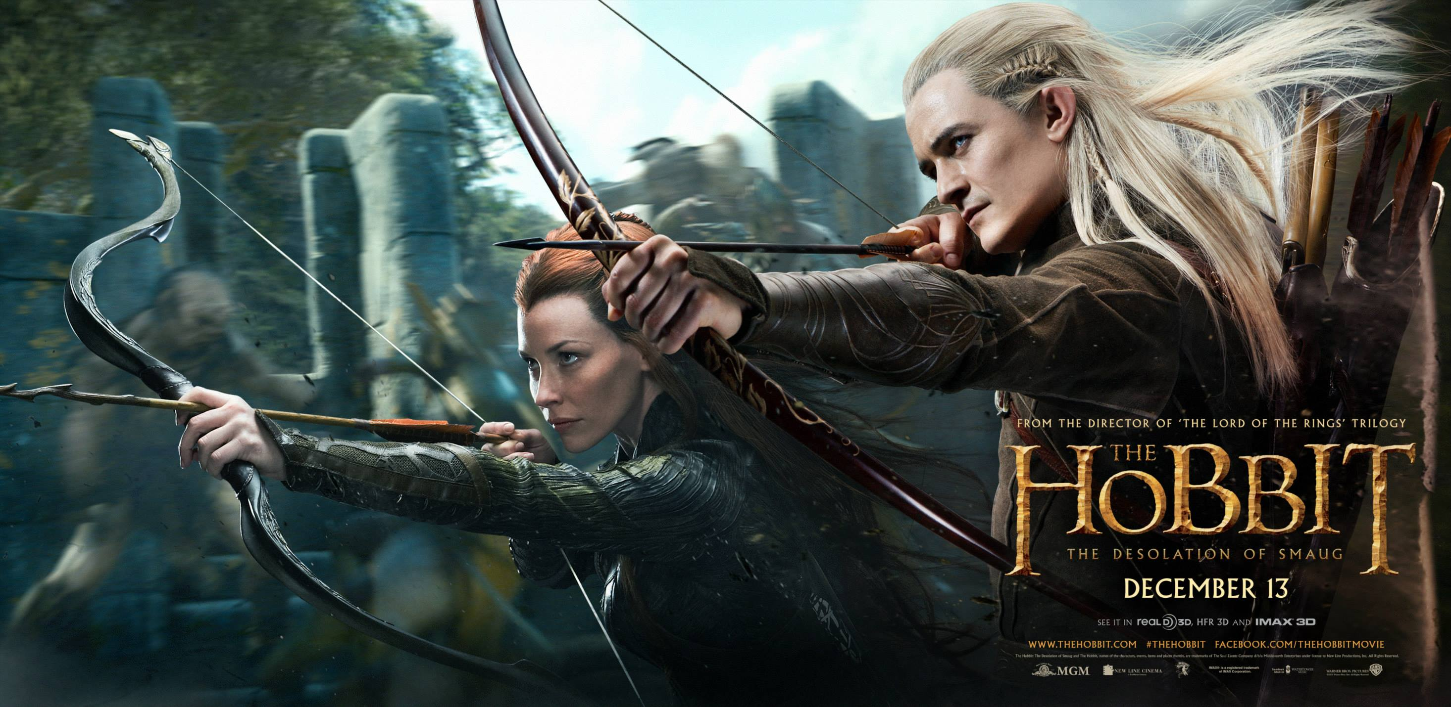 The Desolation of Smaug Legolas and Tauriel Movie Poster