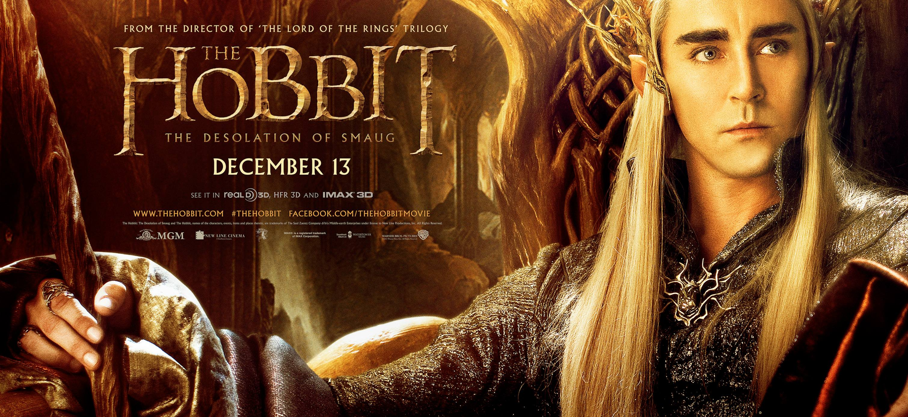 The Desolation of Smaug the Elven King Thrandruil Movie Poster