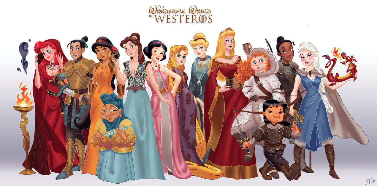 This is your Game of Thrones Meets Disney Princesses Mashup